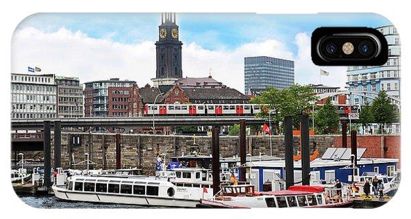Hamburg, Germany, Tour Boats Docked IPhone Case