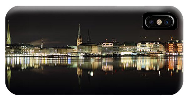 Hamburg Skyline At Night IPhone Case