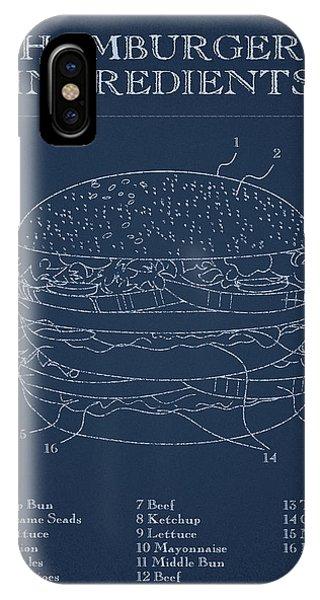 Kitchen iPhone Case - Hamburger by Aged Pixel
