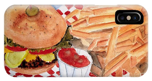 Hamburger Plate With Fries IPhone Case