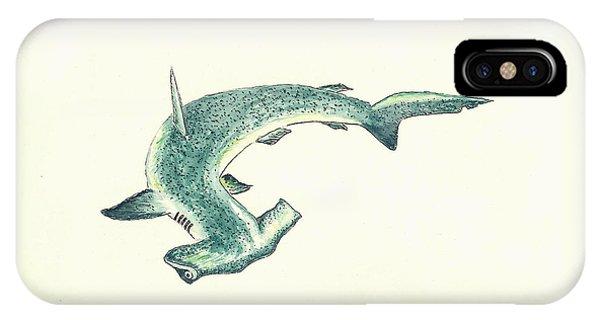 Fish iPhone Case - Hammerhead Shark by Michael Vigliotti