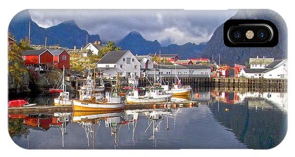 Hamnoy Fishing Village On Lofoten Islands IPhone Case