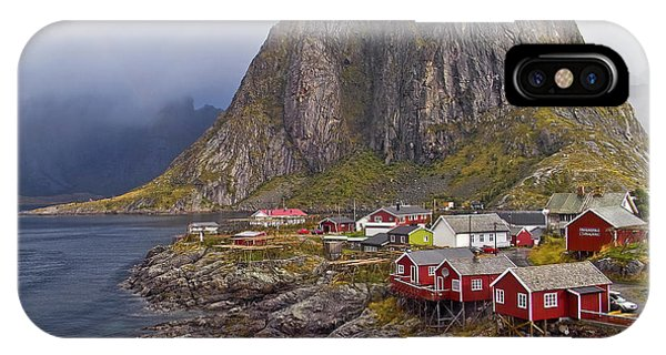 Hamnoy Rorbu Village IPhone Case