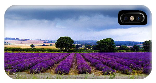 Hampshire Lavender Field IPhone Case