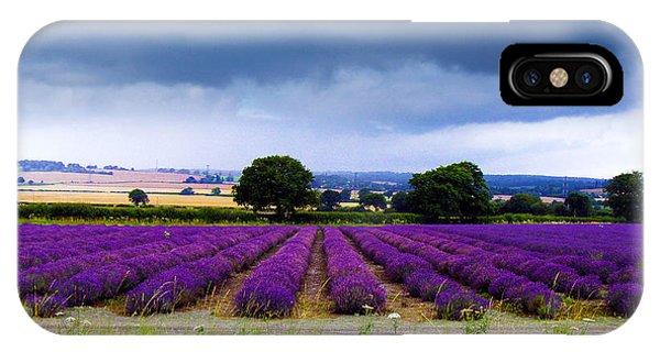 Hampshire Lavender Field IPhone Case