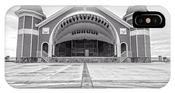 New England Coast iPhone Case - Hampton Beach Bandstand Stage by Edward Fielding