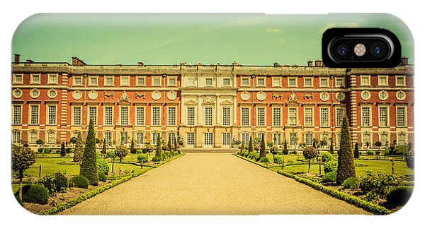 Hampton Court Palace Gardens As Seen From The Knot Garden IPhone Case