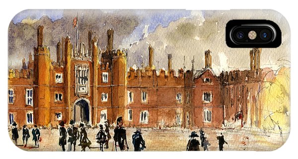 Palace iPhone X Case - Hampton Court Palace London  by Juan  Bosco