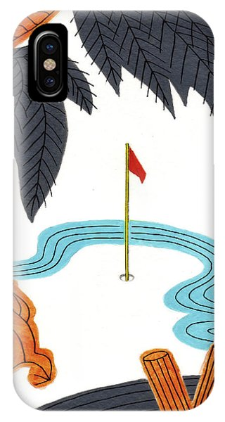 Hanafuda Golf For Cards IPhone Case