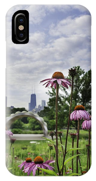 Hancock As Seen Through Flowers Phone Case by Michael  Bennett