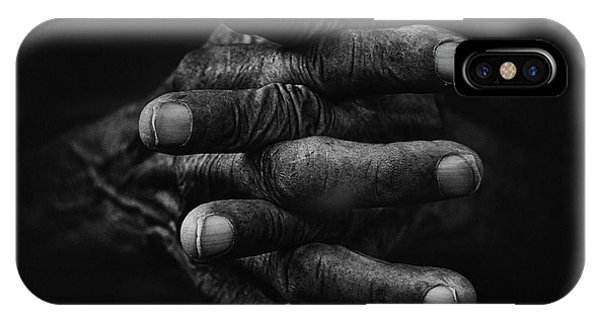 Dark iPhone Case - Hand And Memories by Djeff Act