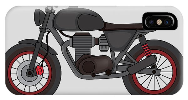 Hobby iPhone Case - Hand Drawn Classic Motor Illustration by Glory Creative