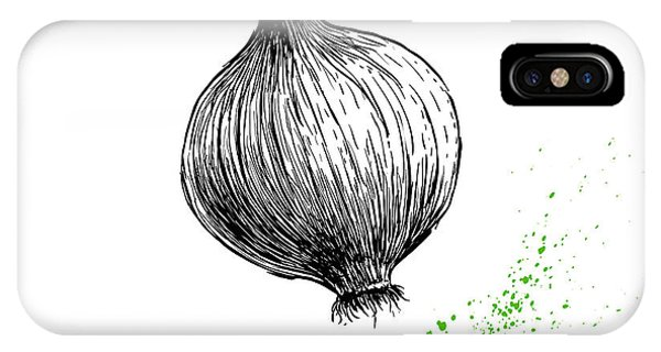 Ingredient iPhone Case - Hand Drawn Sketch Onion. Farm Fresh by Sketch Master