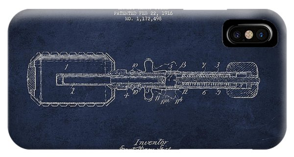 Explosion iPhone X Case - Hand Grenade Patent Drawing From 1916 by Aged Pixel