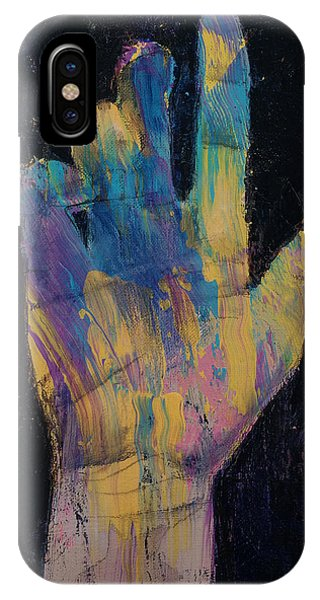 Illusion iPhone Case - Hand by Michael Creese