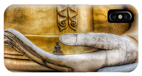 Sitting iPhone Case - Hand Of Buddha by Adrian Evans