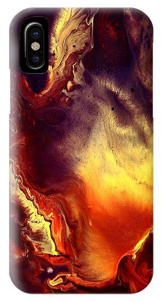 Hand Of Gold Translucent Fluid Macro Photography Art By Kredart IPhone Case