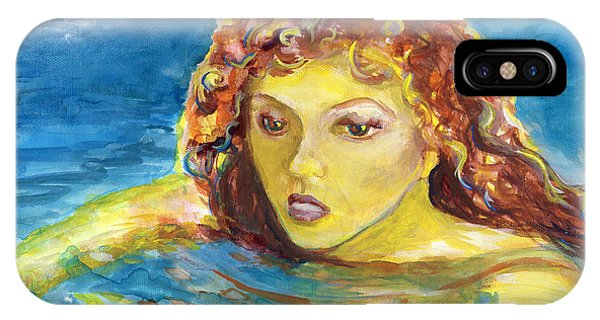 Hand Painted Art Adult Female Swimmer IPhone Case