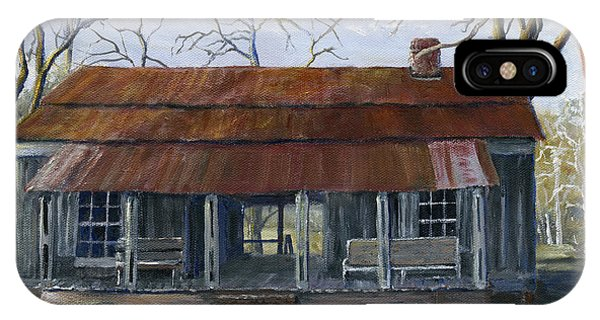 Hand Painted Art Dogtrot House In Pleasant Hill Louisiana IPhone Case