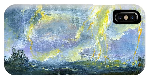 Hand Painted Art Louisiana Storm IPhone Case