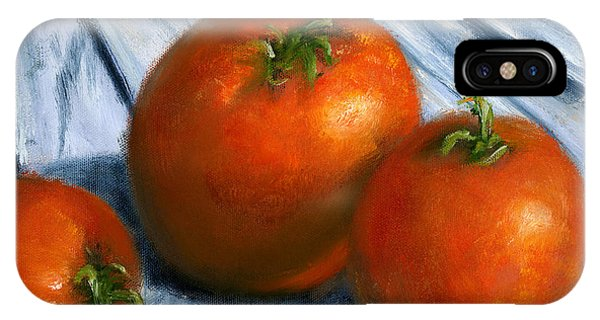 Hand Painted Art Still  Life Tomatoes IPhone Case