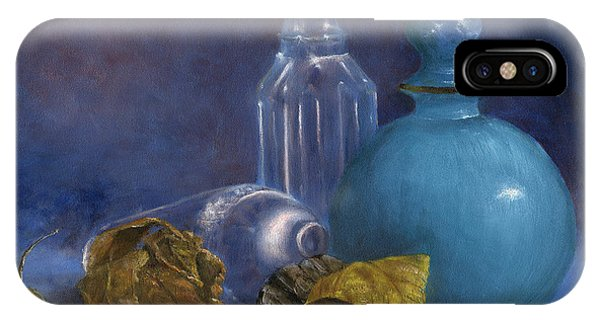 Hand Painted Still Life Bottles Leaves IPhone Case