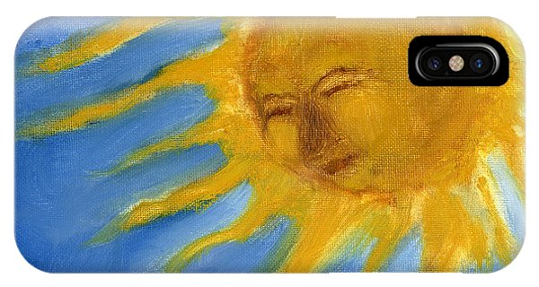 Hand Painted Sun Face Old Sol IPhone Case