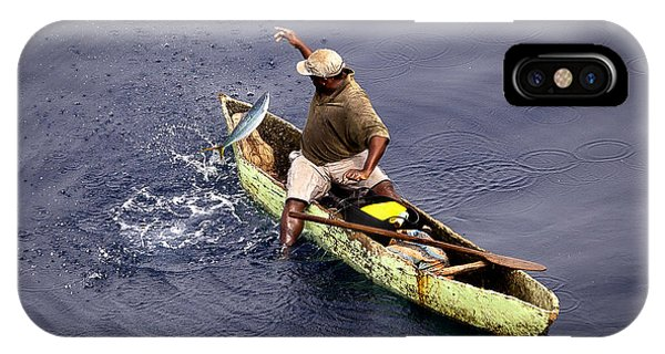 Handline Fisherman IPhone Case