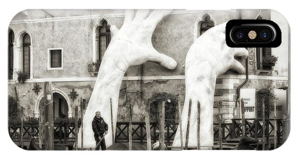 Venice iPhone Case - Hands by Federico Righi
