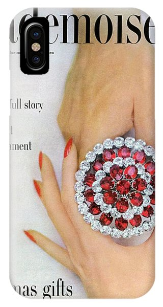 Hands Holding A Coro Rhinestone Pin IPhone Case