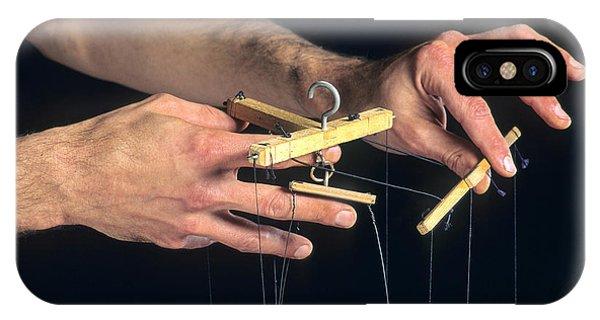 Craftsman iPhone Case - Hands Of A Puppeteer by Bernard Jaubert