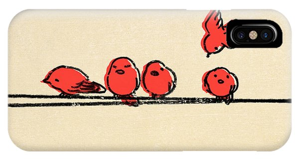 Cute Bird iPhone Case - Hanging Out by Eric Fan