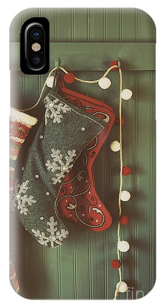 Hanging Stockings Ready For Christmas IPhone Case