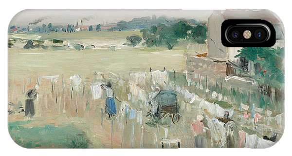 Tint iPhone Case - Hanging The Laundry Out To Dry by Berthe Morisot