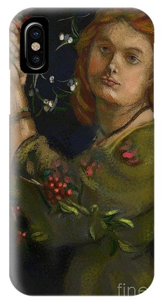 Hanging The Mistletoe IPhone Case