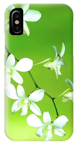 Hanging White Orchids IPhone Case