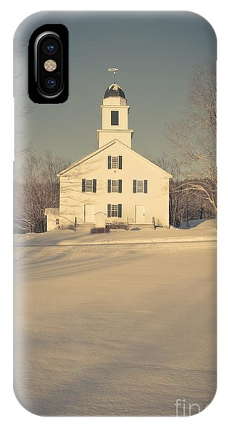 Etna iPhone Case - Hanover Center Church Etna New Hampshire by Edward Fielding
