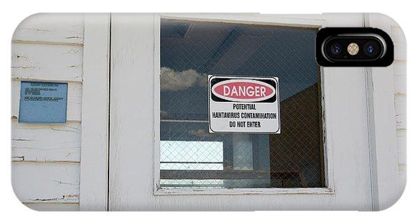 Virus iPhone Case - Hantavirus Warning Sign by Jim West
