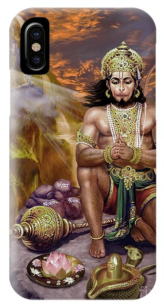 Hanuman Receives Lord Shiva's Blessings IPhone Case