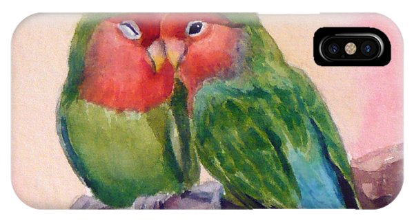 Happiness Forever Lovebirds IPhone Case