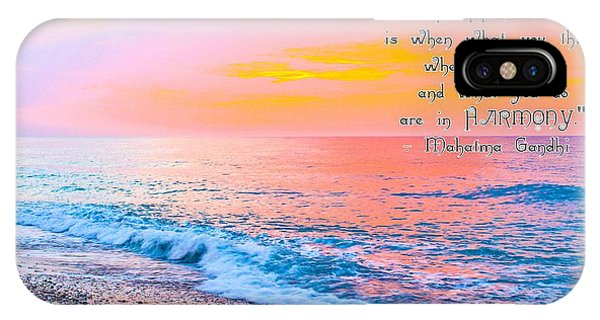 Happiness Quote Mahatma Gandhi  IPhone Case