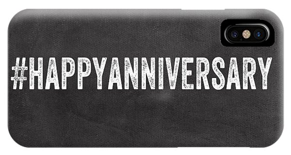 Office iPhone Case - Happy Anniversary- Greeting Card by Linda Woods