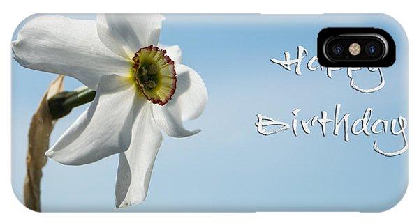 Happy Birthday Daffodil IPhone Case
