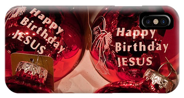 Happy Birthday Jesus IPhone Case