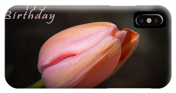 Happy Birthday Tulip IPhone Case