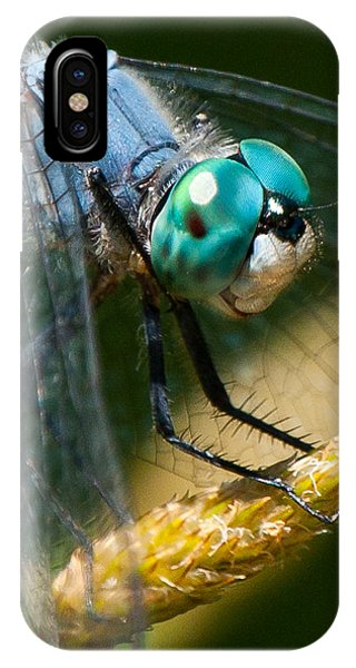 Happy Blue Dragonfly IPhone Case
