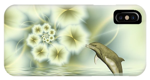 Happy Dolphin In A Surreal World IPhone Case