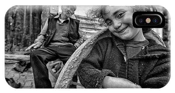 Young iPhone Case - Happy Eyes by Veli Aydogdu