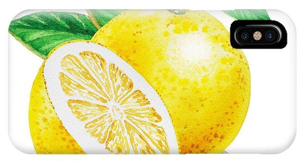 Grapefruit iPhone Case - Happy Grapefruit- Irina Sztukowski by Irina Sztukowski
