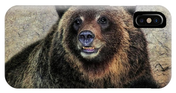 Happy Grizzly Bear IPhone Case
